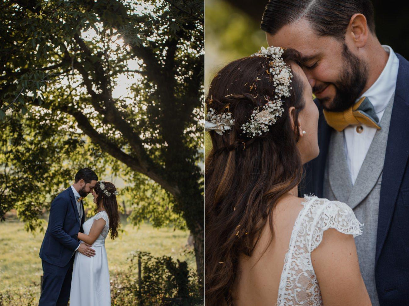 cérémonie laïque sous un arbre, mariage intime, Priscillia Hervier photographe