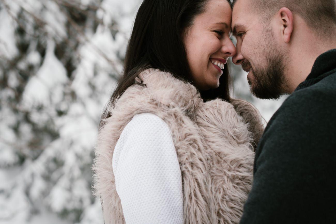 seance engagement sous la neige, Priscillia Hervier