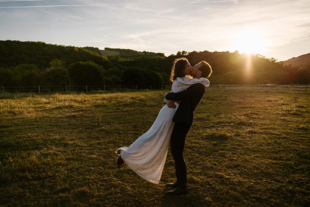 Les photos de couple le jour du mariage, Priscillia Hervier photographe Gironde