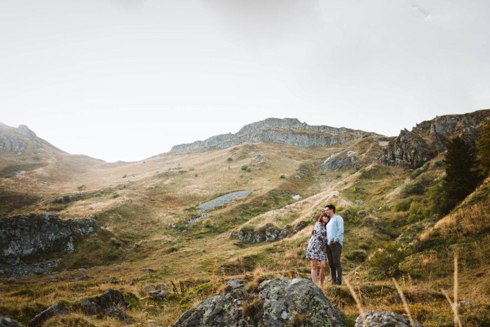 Séance engagement au Sancy, Priscillia Hervier, photographe Auvergne
