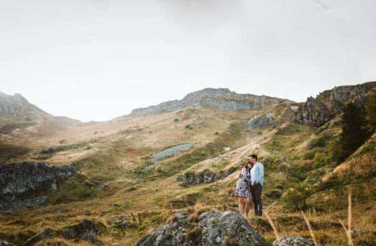 Séance engagement au Sancy, Priscillia Hervier, photographe Auvergne
