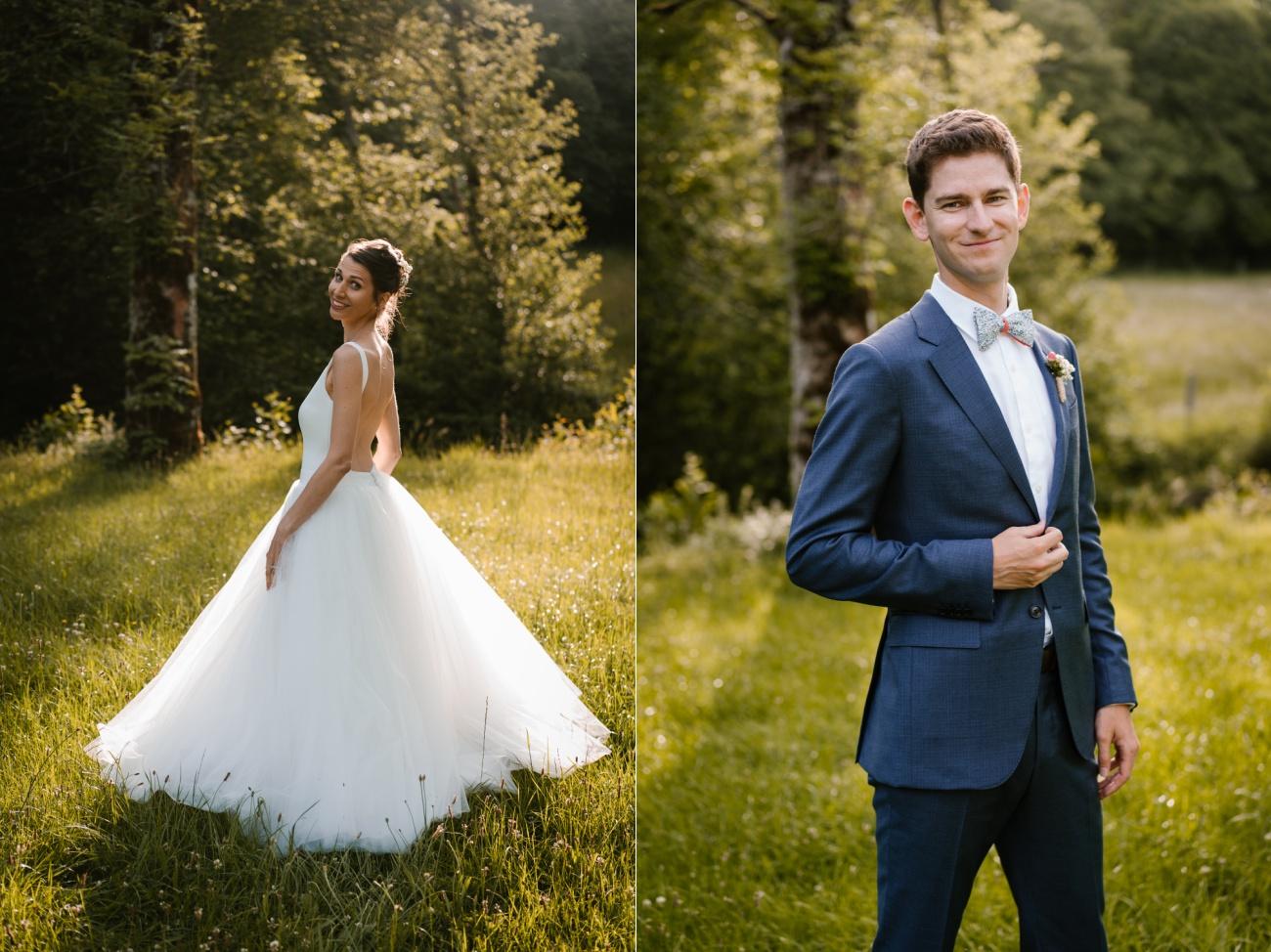 Mariage intime au château de Miremont, en Auvergne, par Priscillia Hervier, photographe de mariages , portrait des mariés