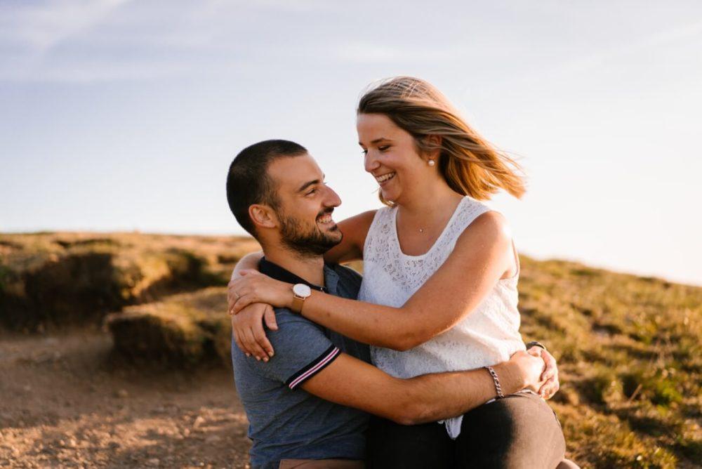 séance en amoureux avant el mariage dans le puy de dome en auvergne, Priscillia Hervier
