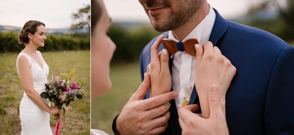 séance photo de couple le jour du mariage, priscillia hervier, photographe riom