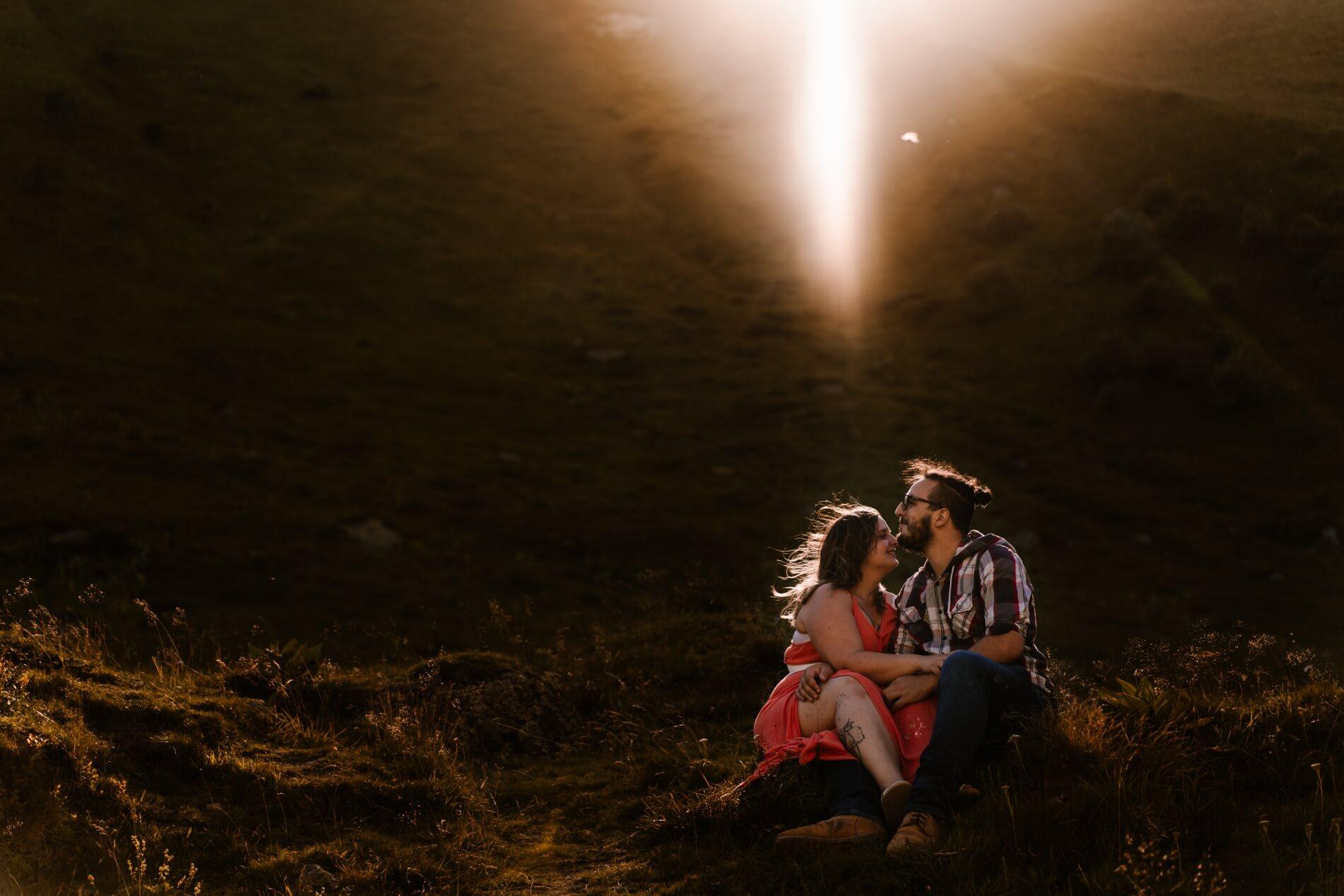 photographe haute loire shooting couple montagnes