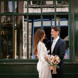 photos de mariés en centre ville de Clermont Ferrand